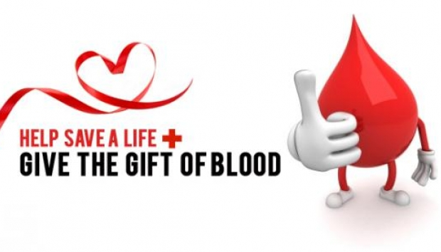 The high school organizes and hosts two blood drives each year.