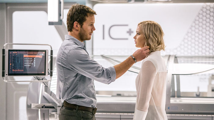 In+the+Infirmary%2C+Jim+%28CHRIS+PRATT%29+and+Aurora+%28JENNIFER+LAWRENCE%29+realize+they+have+limited+options+in+Columbia+Pictures%27+PASSENGERS.