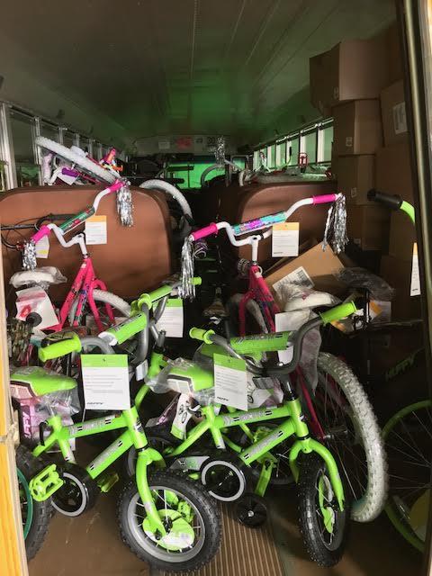 Baldwin bus garage gives back