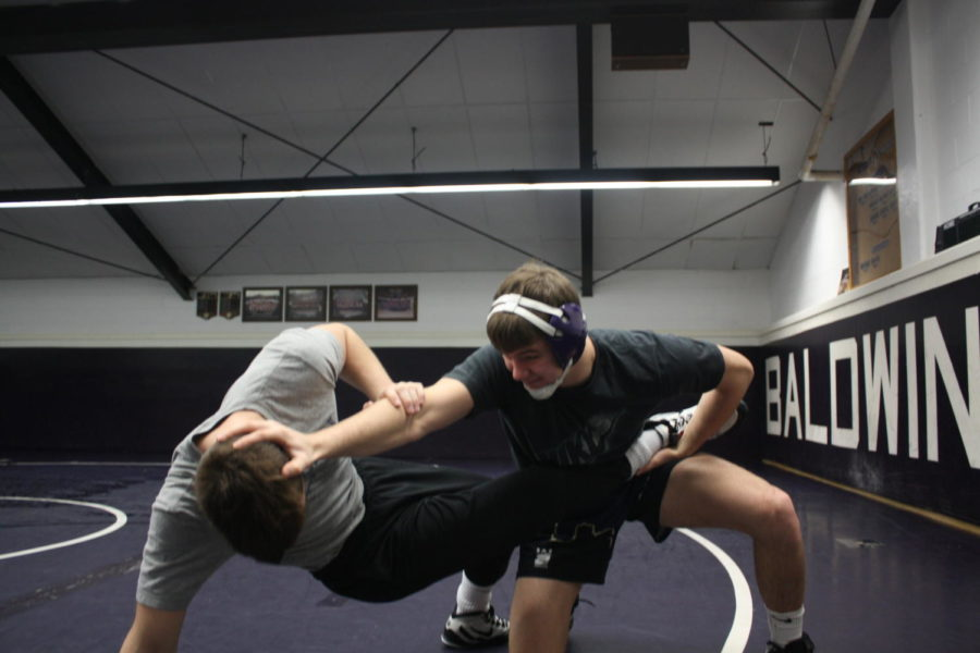 Senior+Connor+Sidoruk+while+at+practice.+Sidoruk+has+been+a+key+member+of+the+varsity+wrestling+team+for+all+four+years.