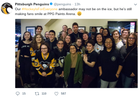 Outreach Club gets Pens tickets, meets Murray