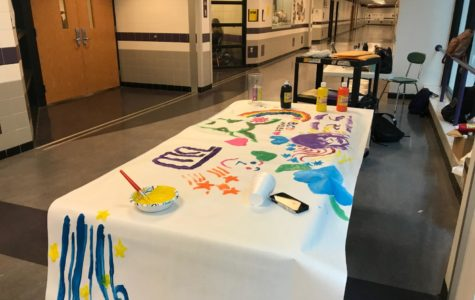ABCD week kicks off with paint gallery during lunch