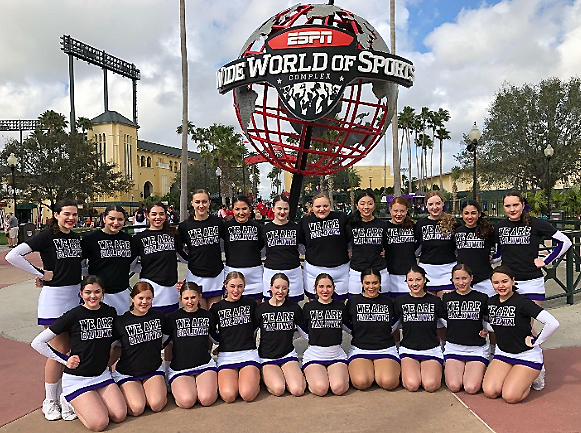 Cheering for success: The Baldwin competitive cheerleading team competed in nationals in Orlando. Earlier the team finished fourth in states.