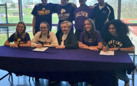 Senior athletes sign to compete at colleges