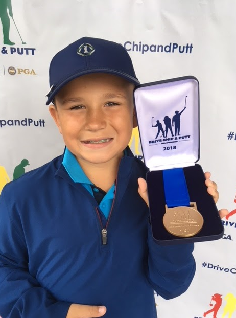 Fourth+grader+Michael+Quallich+had+the+opportunity+to+play+at+the+famed+Augusta+Golf+Course