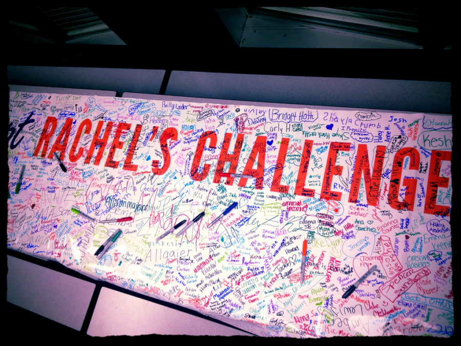The high school is taking up Rachel's Challenge, which challenges students to be kinder to one another.