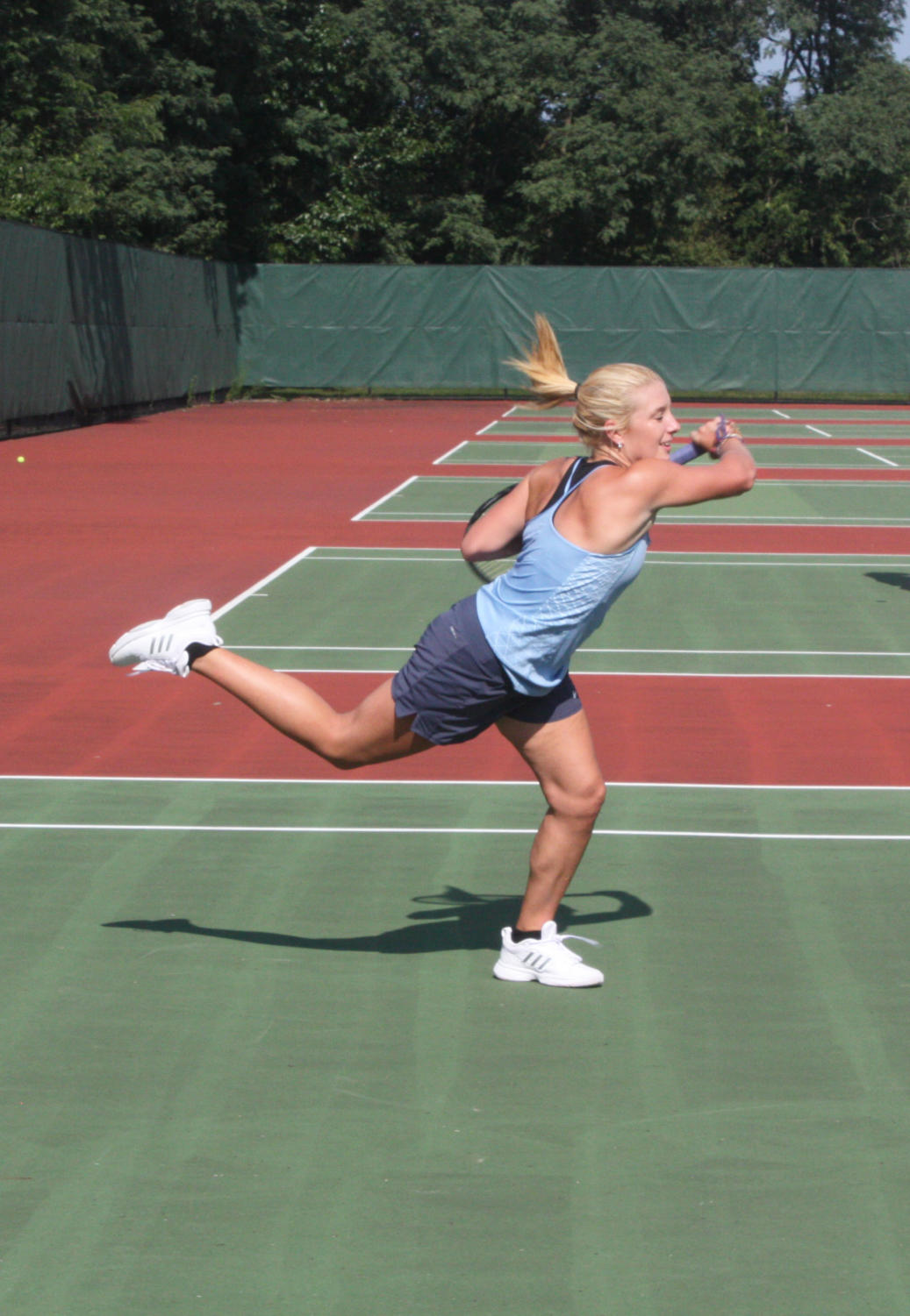 Junior Beth Yauch will continue onto WPIALs Thursday if she advances.