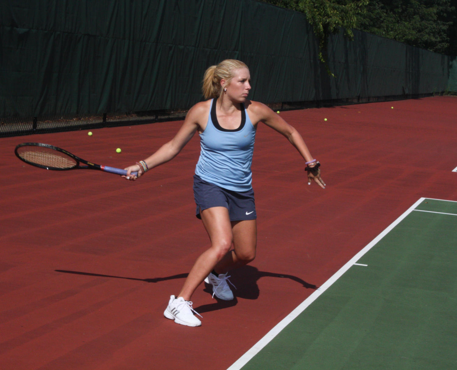 Senior Beth Yauch competes in a match from last season.