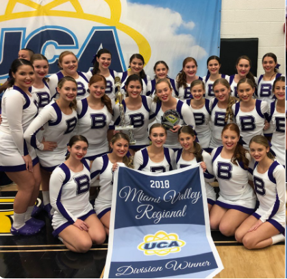 Both the game day and mat cheer teams finished in first place in their divisions at regionals in Ohio over the weekend, qualifying them for nationals in Florida in February.