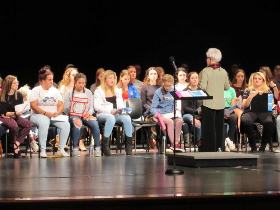 PMEA Choir rehearses at Baldwin High School