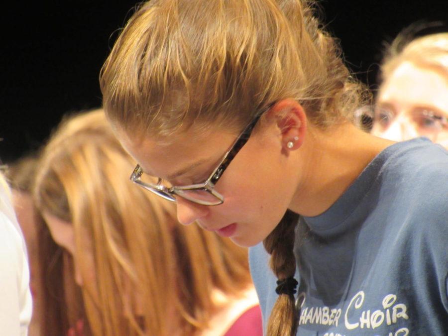 PMEA Choir studies music