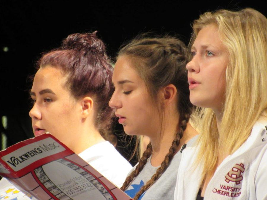 Girls PMEA Choir practices