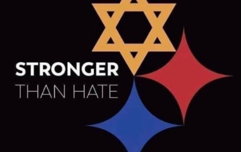 One of the speakers at the vigil for violence victims will be Baldwin grad TIm Hindes, designer of the Stronger Than Hate logo.