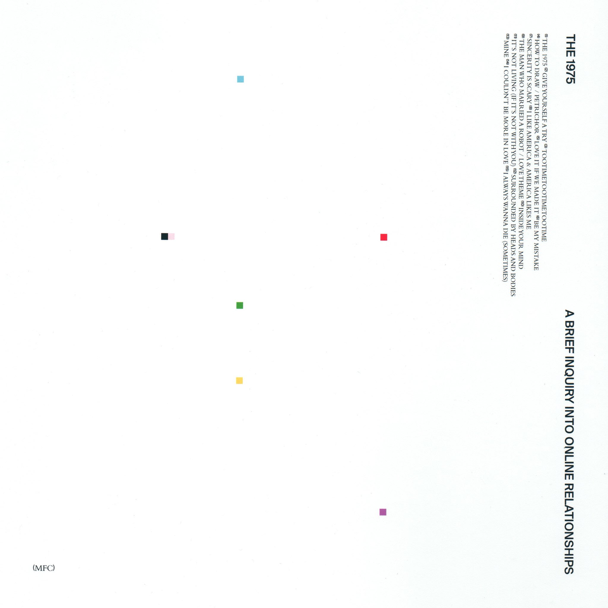 "The album begins with the classic opener that is heard on all of their albums: the self-titled song ""The 1975."" Each version of it sounds slightly different, each one fitting the theme of the album."