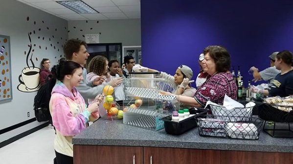Students enjoy Baldwin Bean coffee shop