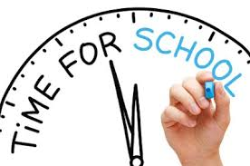 The school day starts 10 minutes earlier this year than in previous years, primarily to eliminate the 10 minutes that students previously had to stand around waiting in the gym hallway before being released to first period.