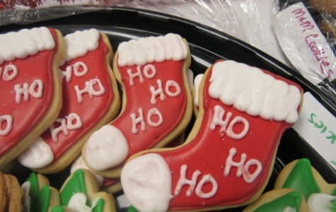 Christmas themed cookies at Cookie Extravaganza.
