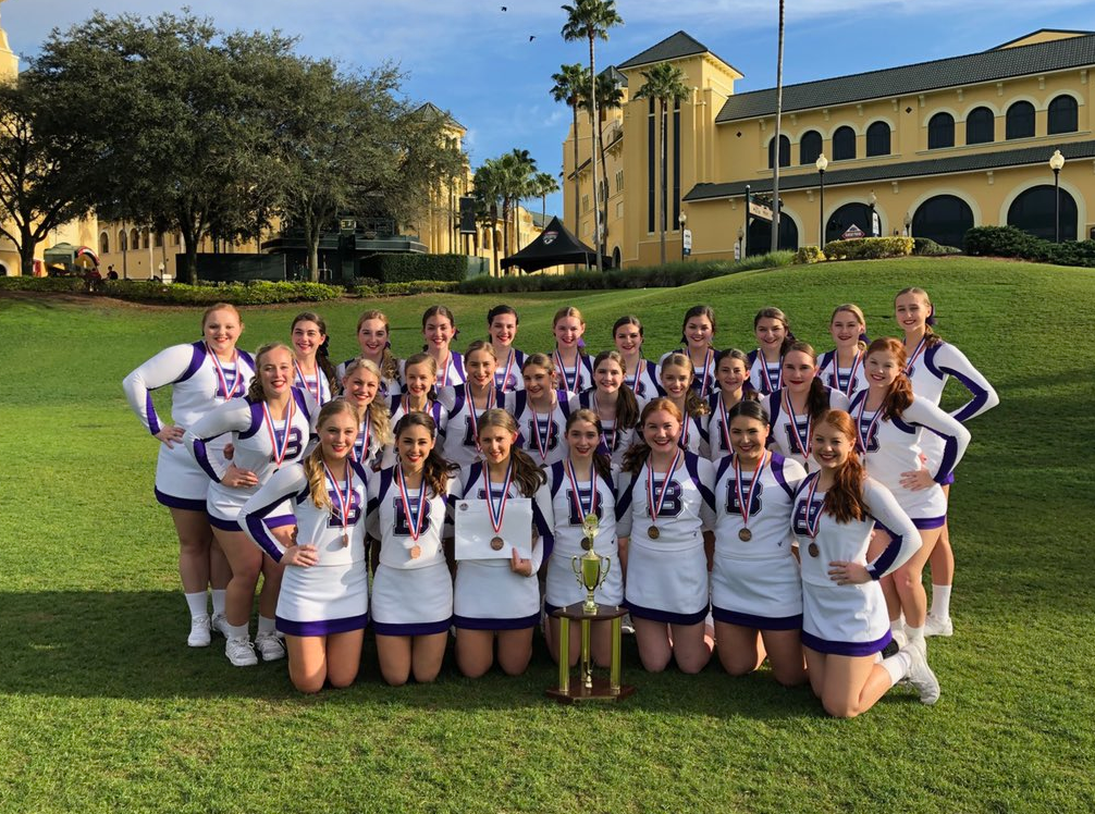 The cheerleaders already have qualified to compete at nationals in Florida later this year.