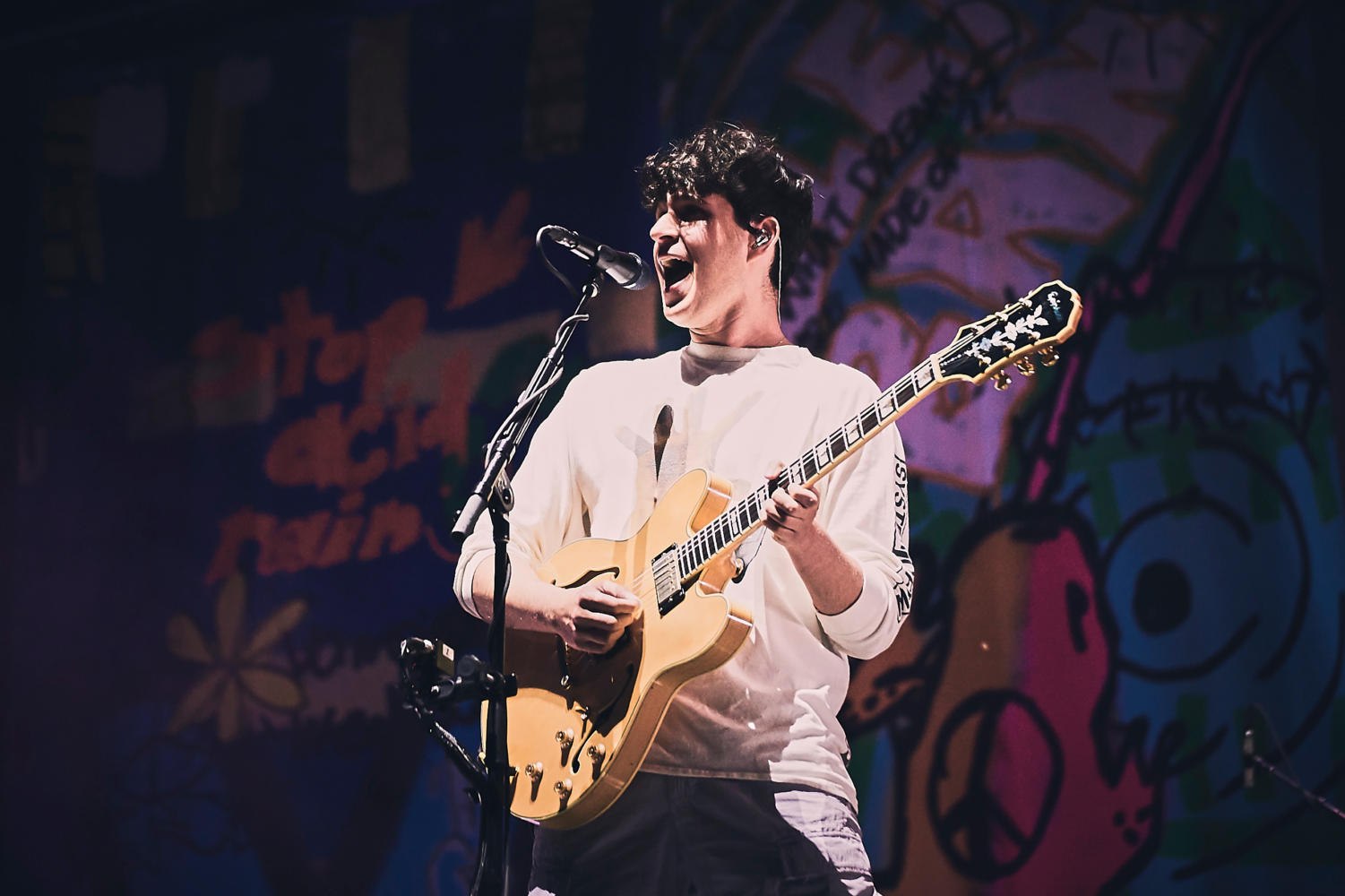 Vampire Weekend at Lollapalooza music festival photographed by Koury Angelo in Chicago, IL, USA on 04 August, 2018 for Rolling Stone.