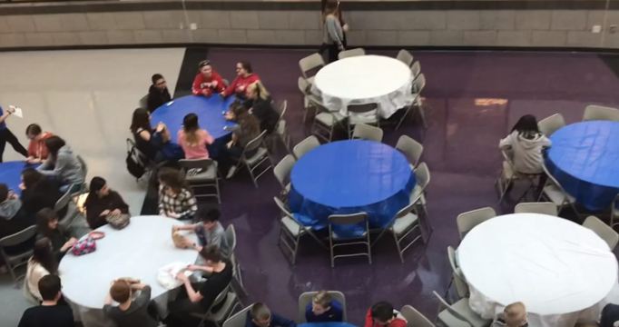 The high school hosts middle school and elementary school history experts in the History Bowl competition.