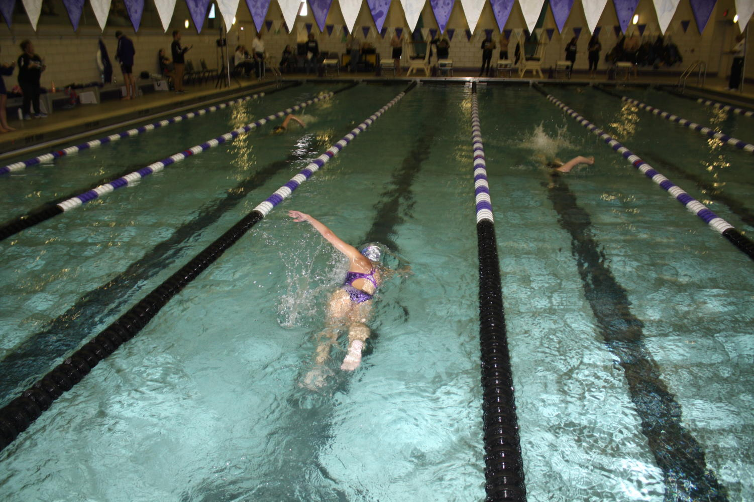 Sophomore Nikki Kosco swims the 200 Yard Freestyle.