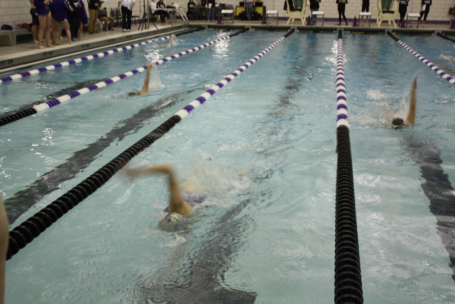 The boys and girls swim teams both came up just short on Thursday, falling to Peters Township