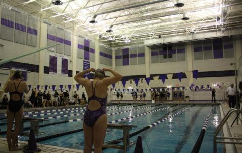 Meyer swims though her last season