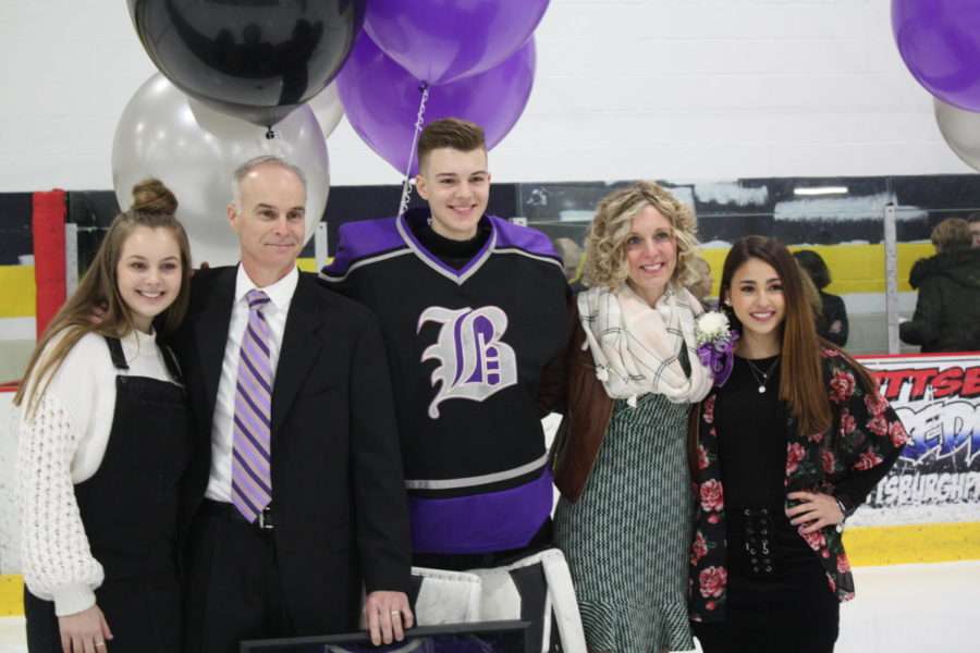Senior Cole Shannon celebrates his career with family