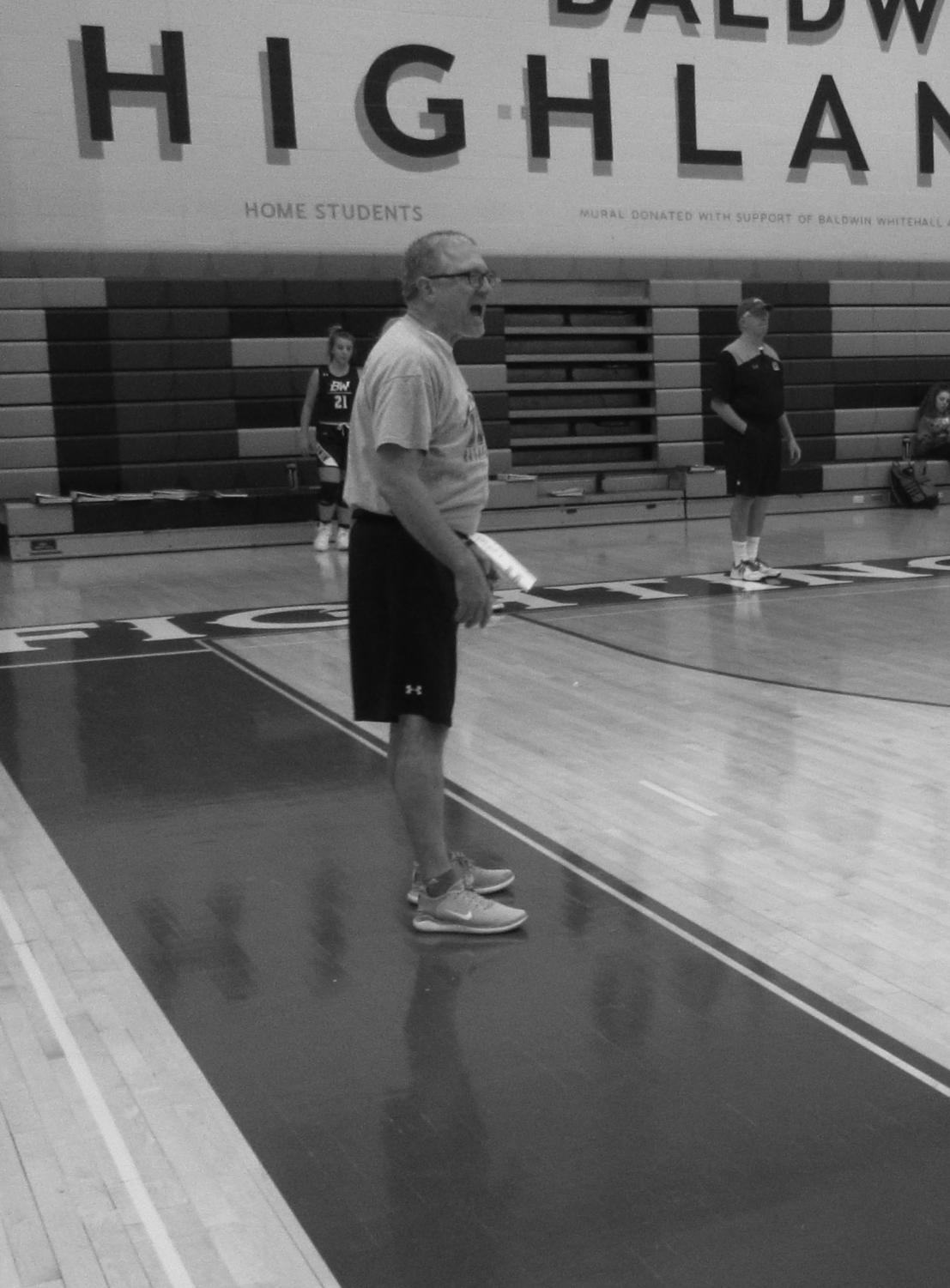 New mentality: Longtime coach and school counselor Kyle DeGregorio is the new coach for the girls basketball team.