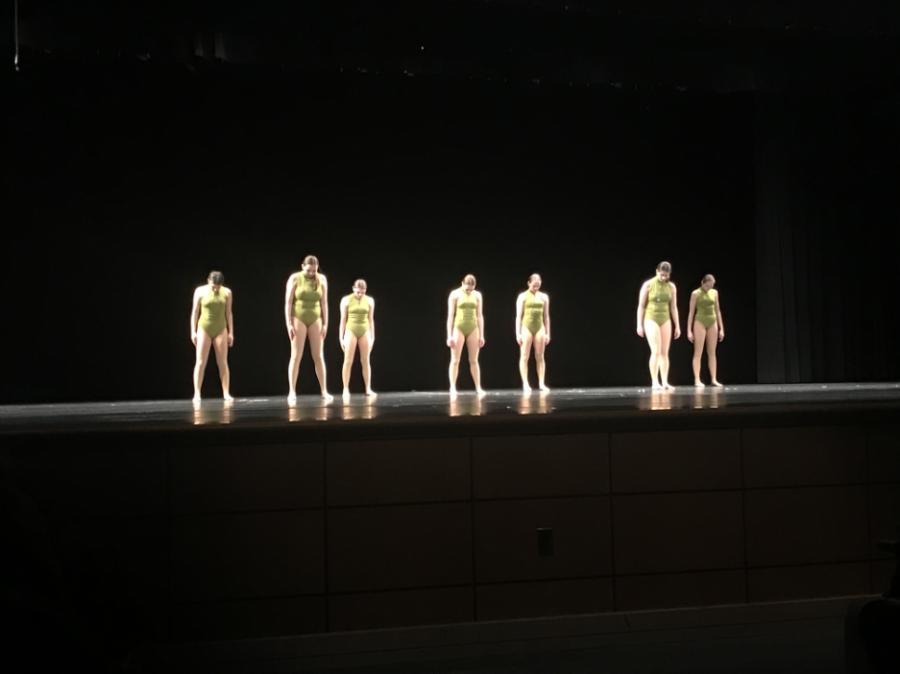 Baldwins dance team performs a dance routine during the Mini-THON talent show.