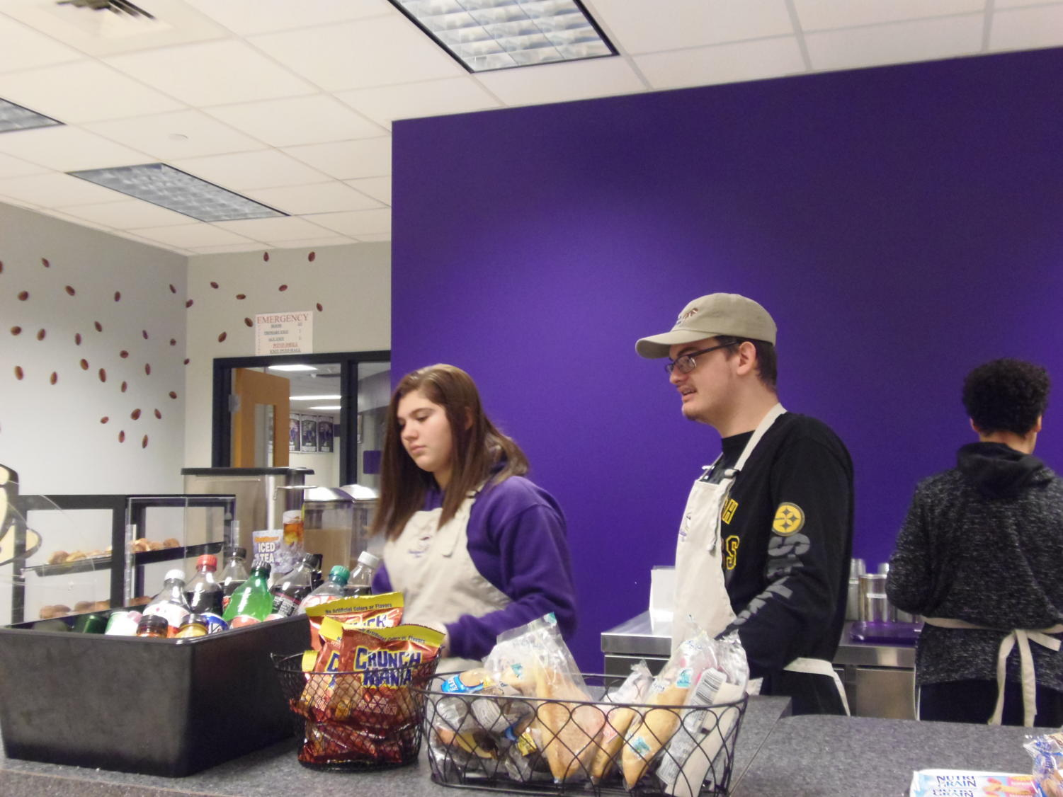 The Baldwin Bean, the school's new coffee shop, had its grand opening today.
