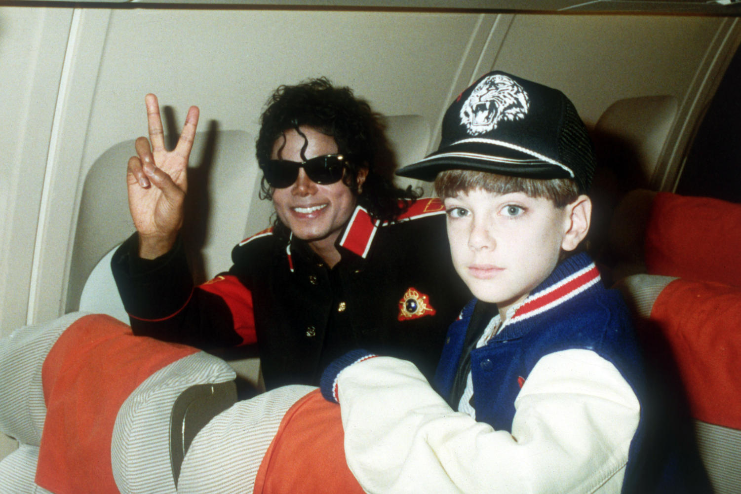 Michael Jackson pictured with alleged victim James Safechuck, an eleven year old.