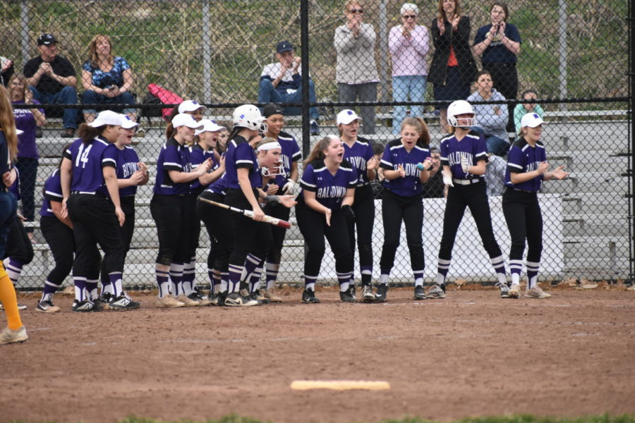 The team rallies each other on throughout the game against Mt. Lebo.