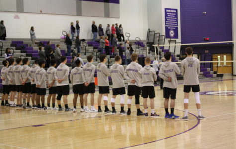 Boys volleyball come out on top in non-section match