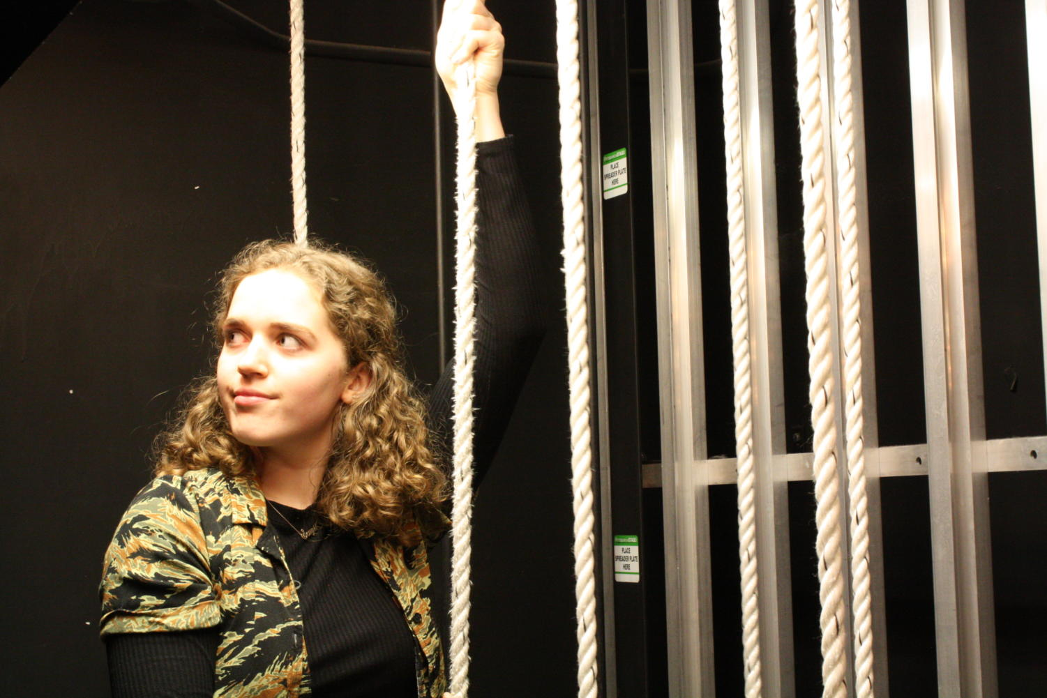 Kadrie also loves being backstage. Some of her favorite high school memories have been made through stage crew.
