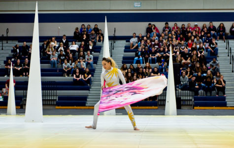 Color guard finishes an undefeated season