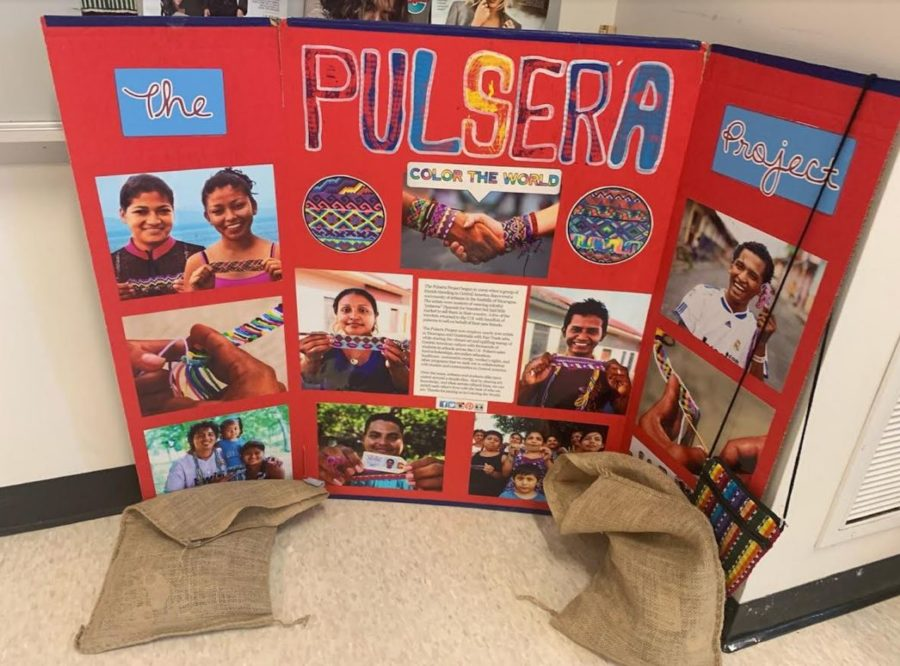 The Spanish Club is selling bracelets through the Pulsera Project, a non-profit organization that supports artisans in Guatemala and Nicaragua.