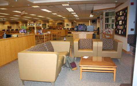 The new couches support collaborative learning and studying for students.