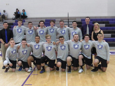 The boy's volleyball team comes together as they face Bethel Park.