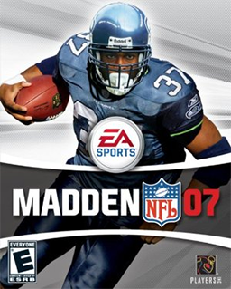 Running back Shaun Alexander was an MVP in 2005. His career would suffer after being placed on the Madden cover.