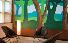 Art students painted the mural in the new Mindfulness Center.