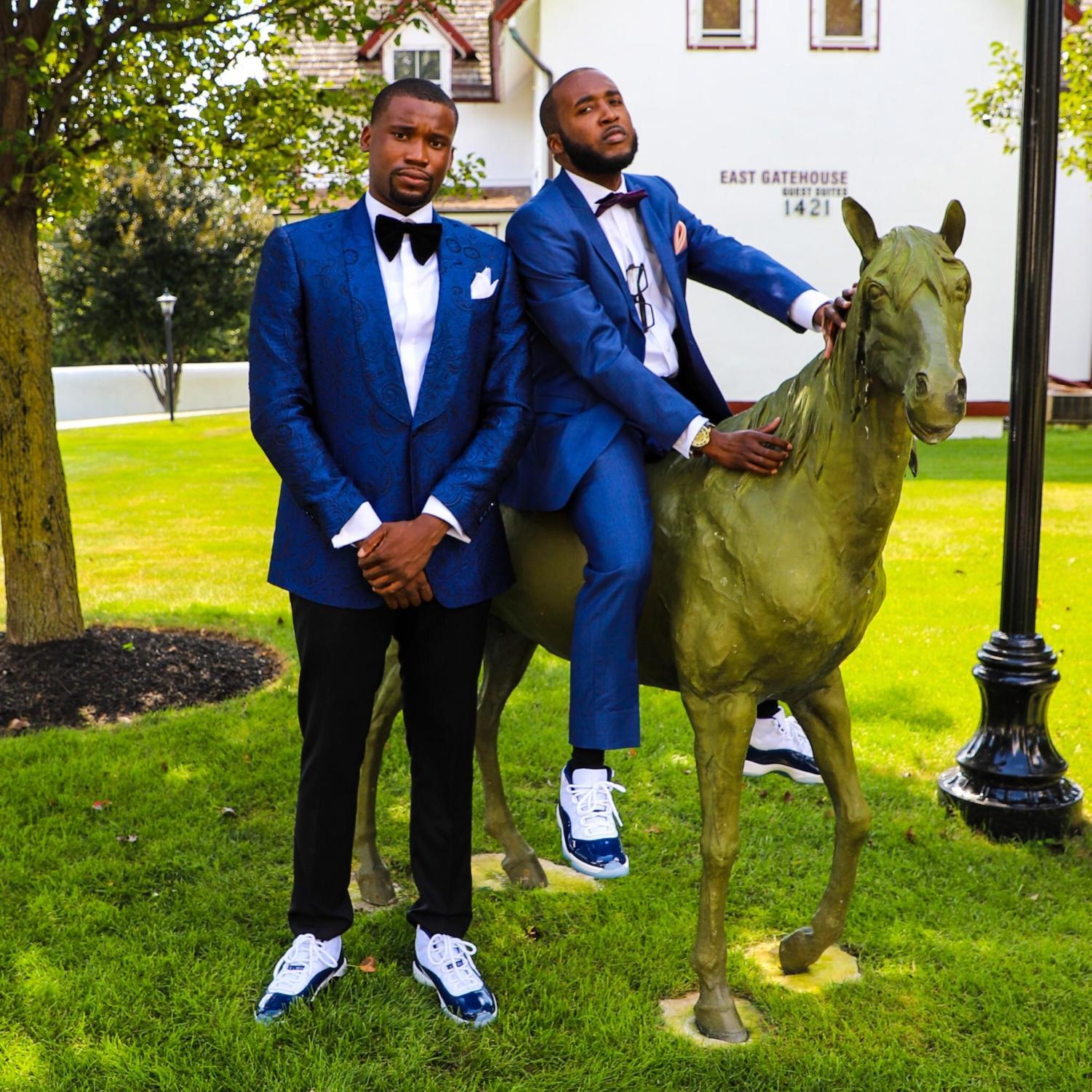 Wearing suits with Jordans is an unorthodox combination growing in popularity.