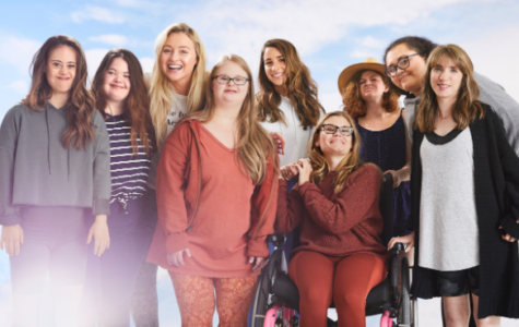 Baldwin students Kaitlyn Anderson, fourth from the left, and Daijah Massie,  second from the right, modeled for Aerie's celebration of the Special Olympics Global Week of Inclusion.