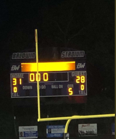 Baldwin football defeated Bethel Park 31-28 in double overtime on Friday.
