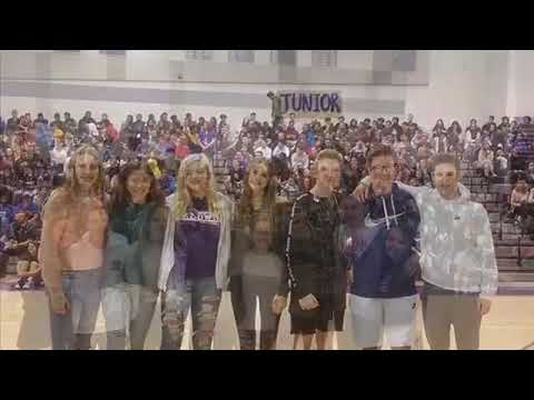 The homecoming court was announced during the pep rally this week.