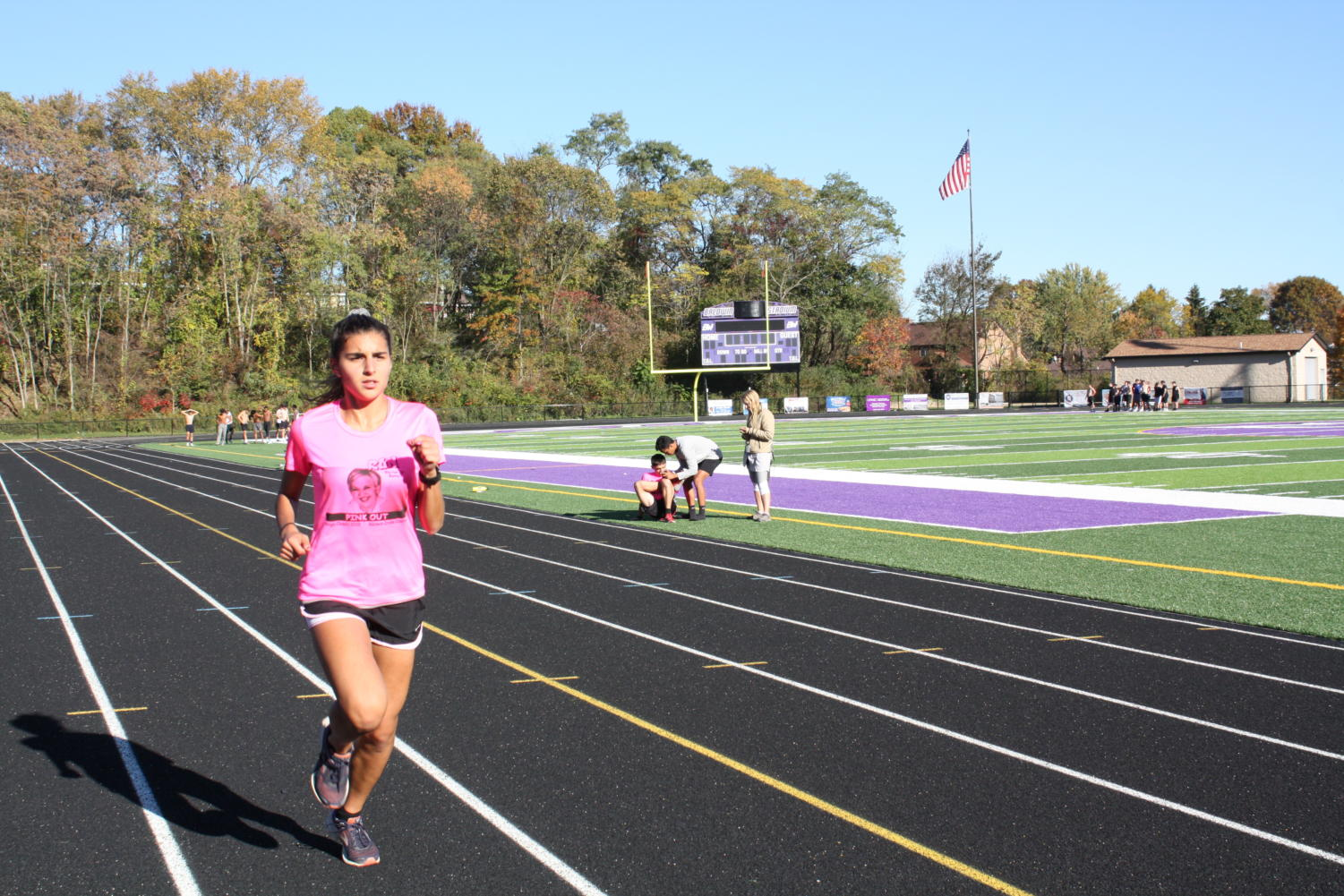 Junior Gina Bolla practices after school.  Bolla earned a trip to states this year.