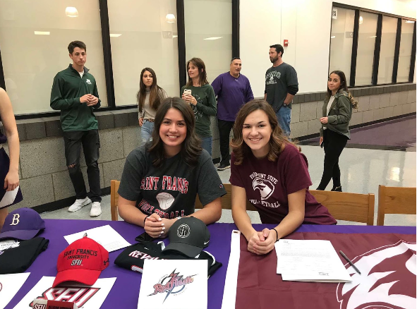 Ally Schenk (right) and Allison Murray (left) have committed to playing volleyball in college.