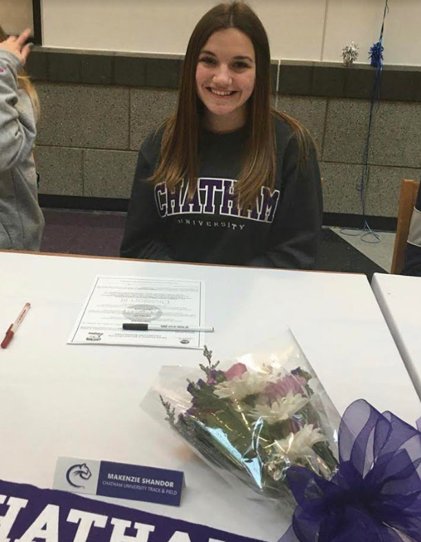 Kenzie+Shandor+commits+to+Chatham+University+where+she+will+compete+in+track+and+field.