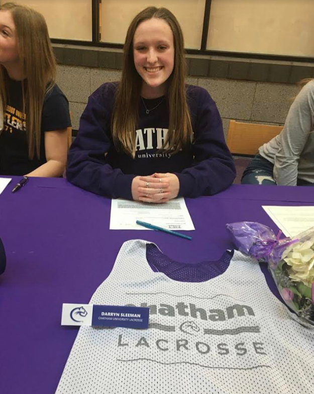 Darryn+Sleeman+will+continue+her+lacrosse+career+at+Chatham+University.