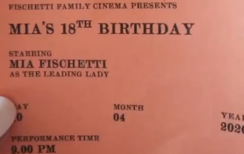 Senior MIa Fischetti's family turned her birthday into a trip to the movies, including movie tickets.